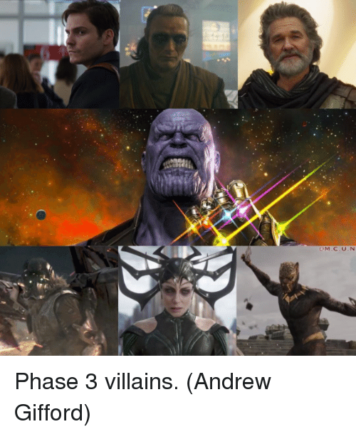 Memes, 🤖, and Villains: Phase 3 villains.  (Andrew Gifford)