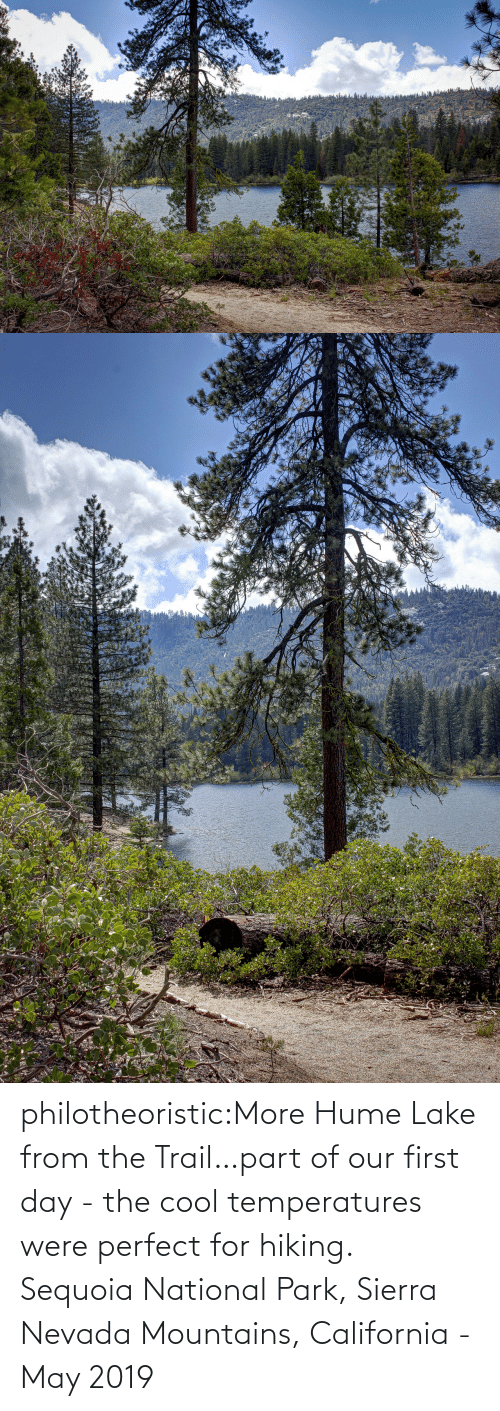 Target, Tumblr, and Blog: philotheoristic:More Hume Lake from the Trail…part of our first day - the cool temperatures were perfect for hiking. Sequoia National Park, Sierra Nevada Mountains, California - May 2019