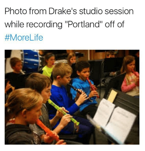 photo from drakes studio session while recording portland off of 16821254 photo from drake's studio session while recording portland off of