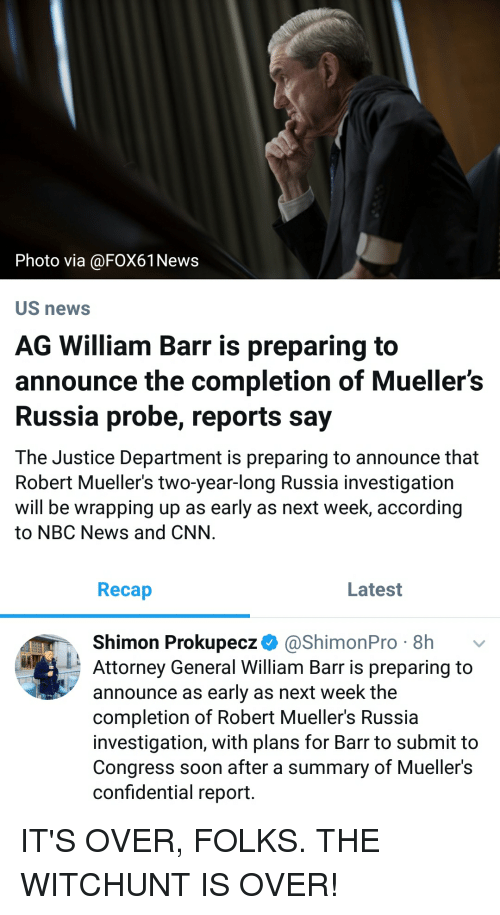 Photo via US newS AG William Barr Is Preparing to Announce