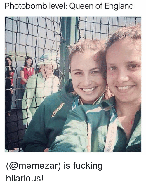 England, Fucking, and Funny: Photobomb level: Queen of England (@memezar) is fucking hilarious!