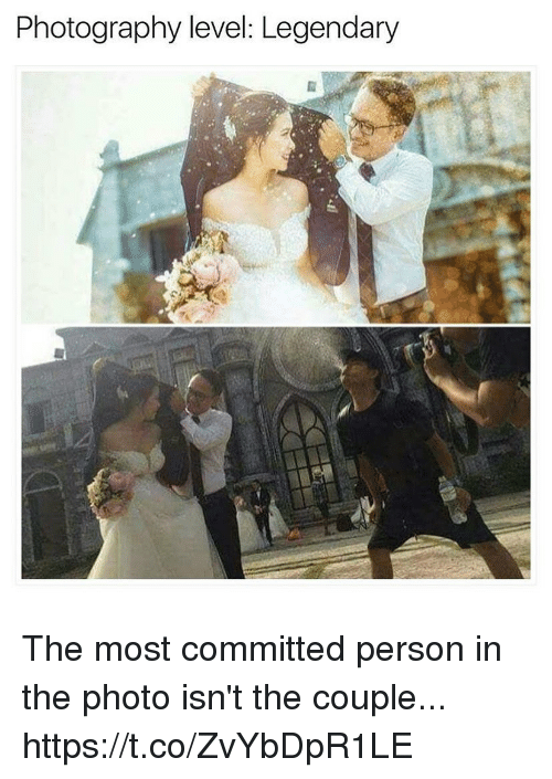 Funny, Photography, and Photo: Photography level: Legendary The most committed person in the photo isn't the couple... https://t.co/ZvYbDpR1LE