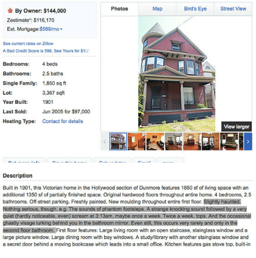 Photos Map Bird's Eye Street View by Owner $144000 Zestimate $116170 on