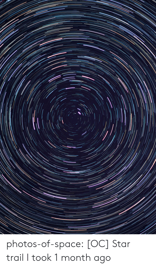 Tumblr, Blog, and Space: photos-of-space:  [OC] Star trail I took 1 month ago