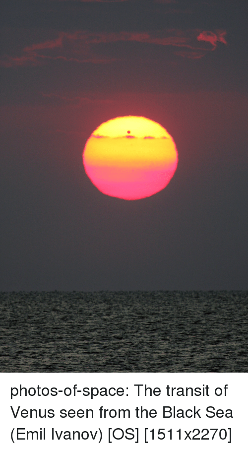 Tumblr, Black, and Blog: photos-of-space:  The transit of Venus seen from the Black Sea (Emil Ivanov) [OS] [1511x2270]