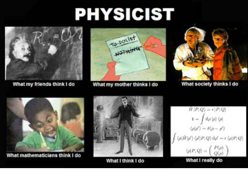 Physicist What Society Thinks Ido What My Friends Think Ido What My