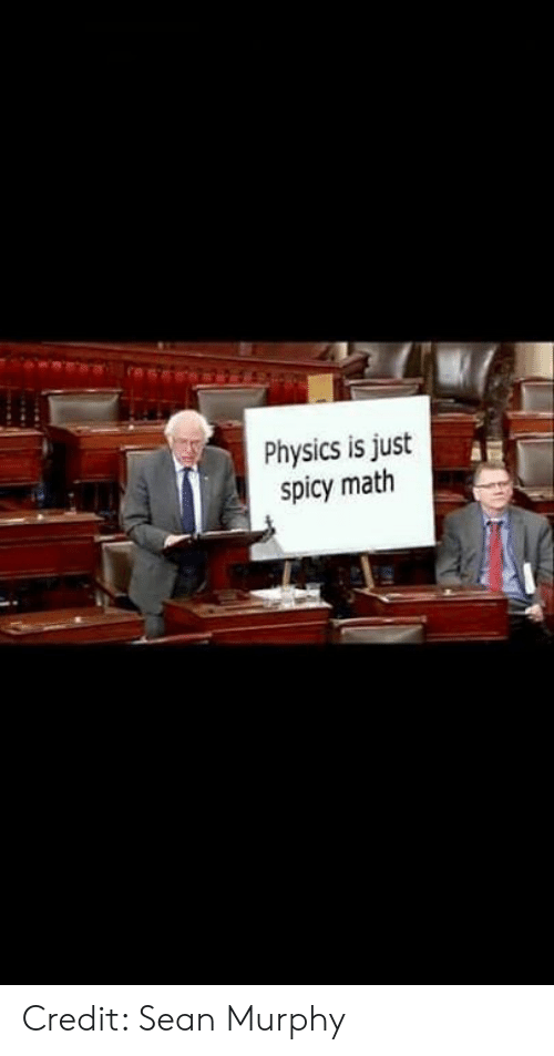 Memes, Math, and Physics: Physics is just  spicy math Credit: Sean Murphy