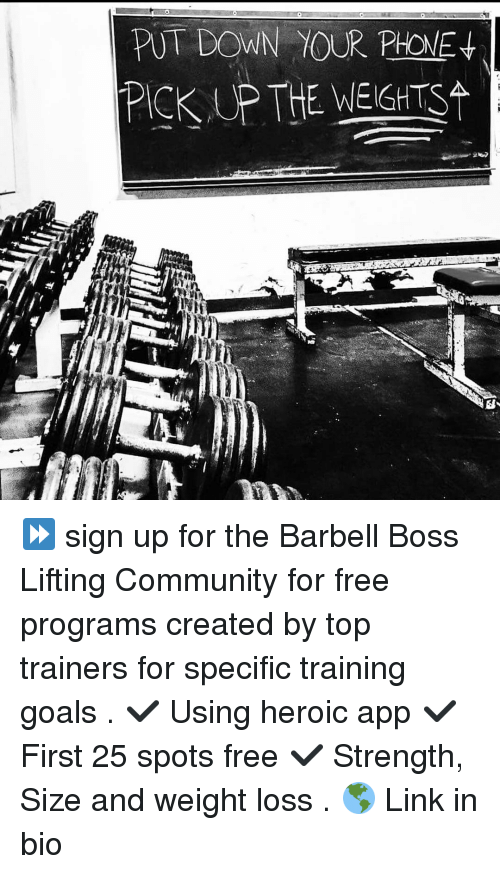 PICKUP THE WEIGHTS ⏩ Sign Up for the Barbell Boss Lifting ...