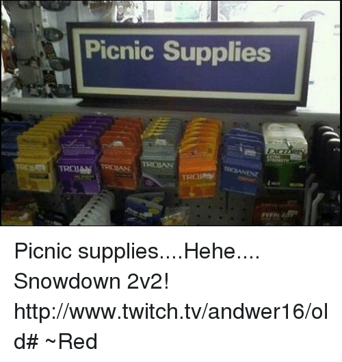 Picnic Supplies TROJAN TROJAN Picnic suppliesHehe Snowdown 2v2