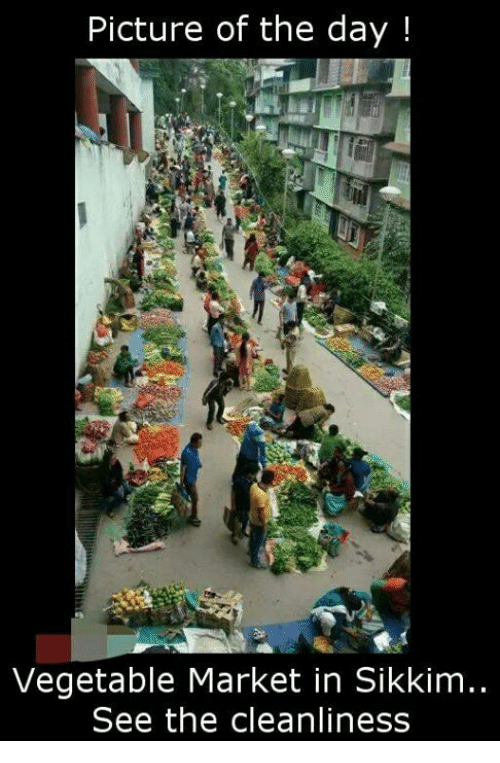 Picture of the Day! Vegetable Market in Sikkim See the