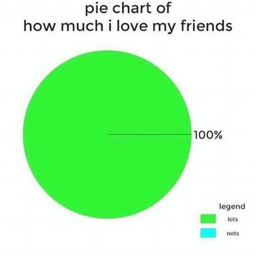 25 best memes about pie chart pie chart memes anaconda friends and love pie chart of how much i love my friends 100 legend lots nots ccuart Choice Image