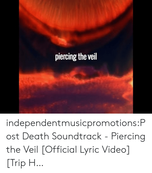 Tumblr, Blog, and Death: piercing the veil independentmusicpromotions:Post Death Soundtrack - Piercing the Veil [Official Lyric Video] [Trip H…