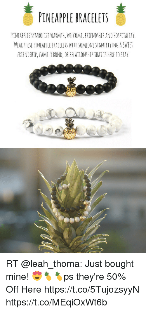 Pineapple Bracelets Pineapples Symbolize Warmth Welcome Friendship