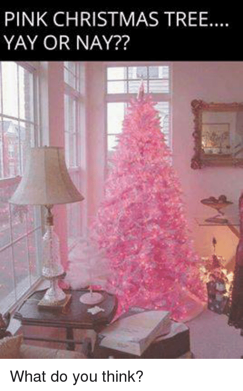 Pink Christmas Trees.Pink Christmas Tree Yay Or Nay What Do You Think Meme