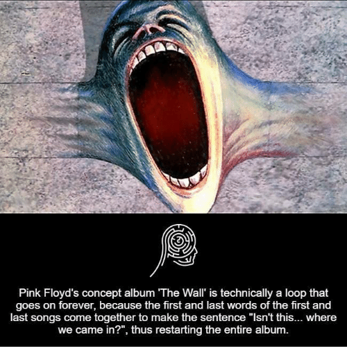 pink floyds concept album the wall is technically a loop 7243572 pink floyd's concept album the wall' is technically a loop that