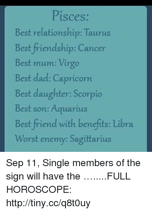 Pisces Best Relationship Taurus Best Friendship Cancer Best