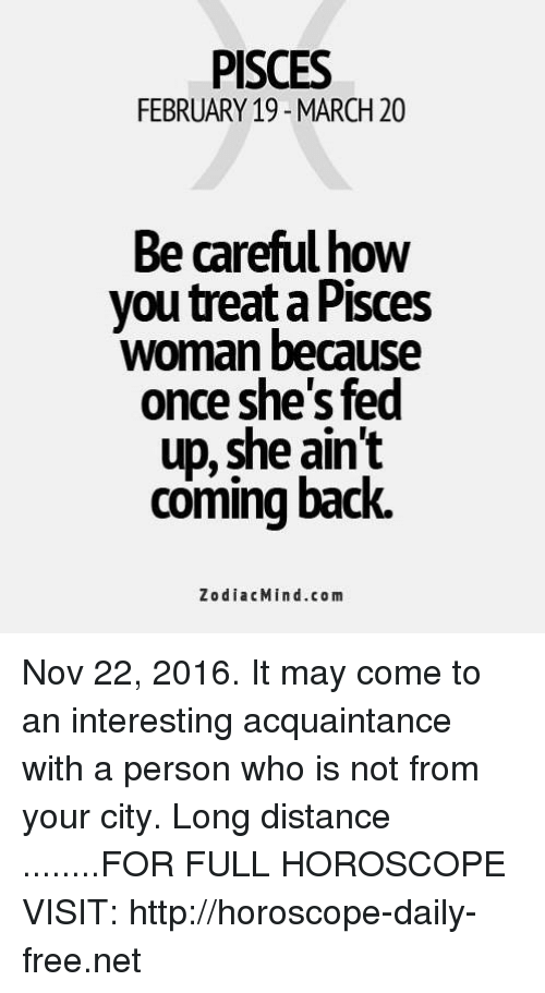 When a pisces woman is fed up