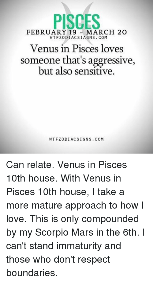 PISCES FEBRUARY 19 MARCH 20 WTFZODIACSIAGNSCOM Venus in Pisces Loves