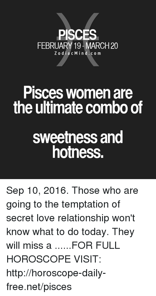 daily love horoscope pisces woman