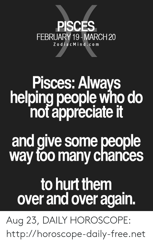 horoscope march 23 pisces or pisces
