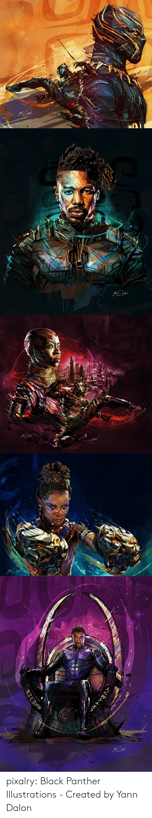 Target, Tumblr, and Black: pixalry: Black Panther Illustrations - Created by Yann Dalon
