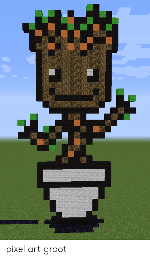 Pixel Art Groot Art Meme On Meme