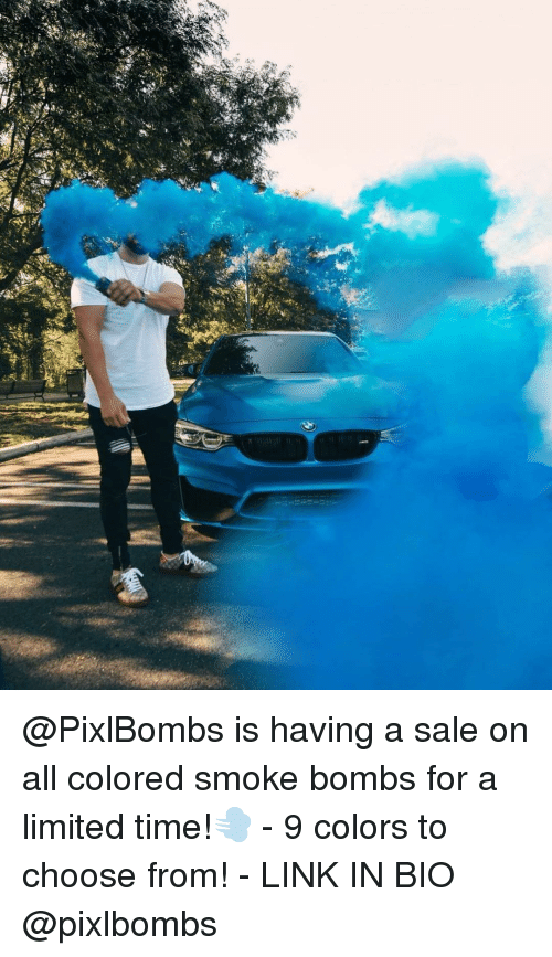 Is Having a Sale on All Colored Smoke Bombs for a Limited Time