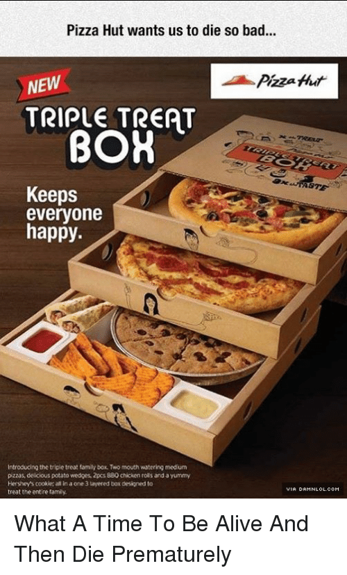 Pizza hut triple treat box code