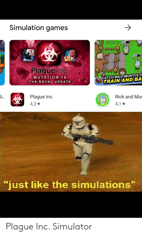 Plague, Plague Inc, and Simulator: Plague Inc. Simulator
