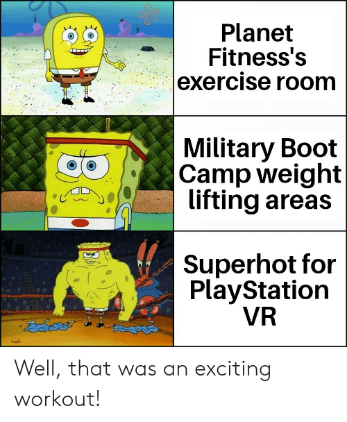 Planet Fitness's Exercise Room Military Boot Camp Weight