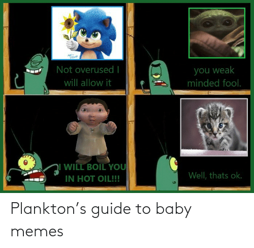 Memes, Plankton, and Baby: Plankton's guide to baby memes