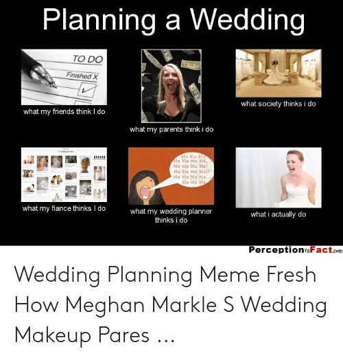 Wedding Planning Meme.Planning A Wedding To Do Finishedx What Society Thinks I Do What My