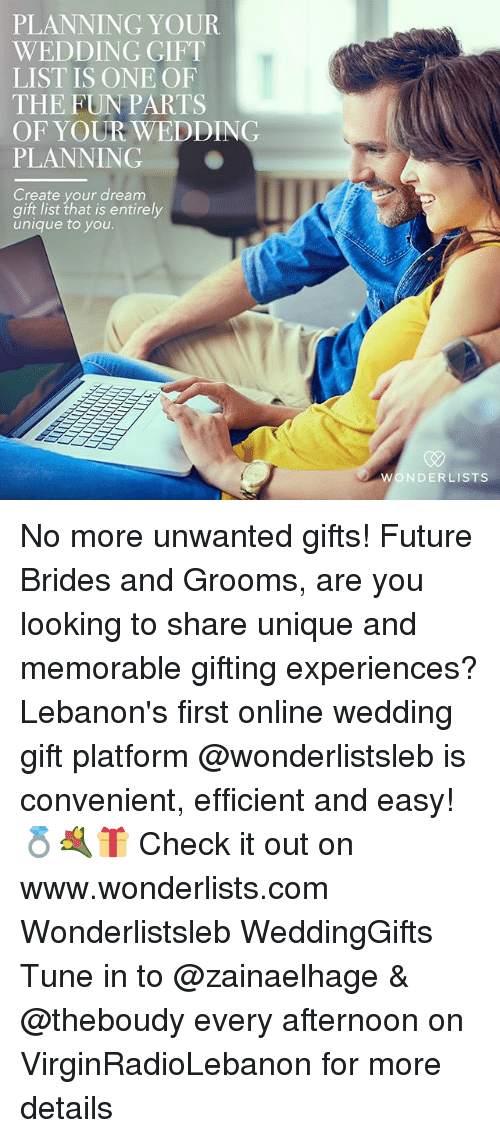 Great wedding gift experiences