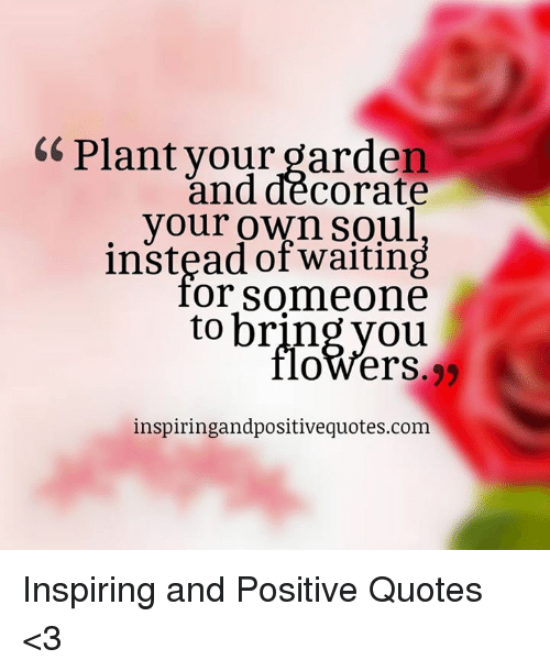 Plant Your Garden And Decorate Your Own Waiting Or Someone To Bring