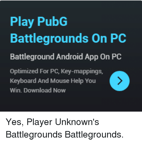 Play Pubg Battlegrounds On Pc Battleground Android App On Pc