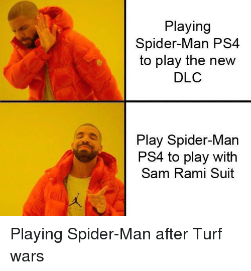 Playing Spider-Man PS4 to Play the New DLC Play Spider-Man