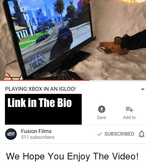 PLAYING XBOX IN AN IGLOO! Link in the Bio Fusion Films 511