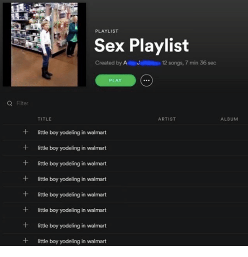 Good songs for a sex playlist