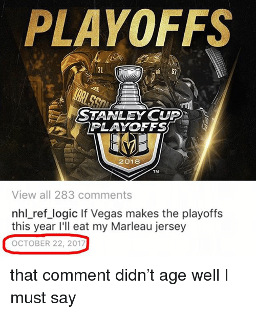 Playoffs 21 52 Stanley Cup Playoffs 2018 Tm View All 283 Comments
