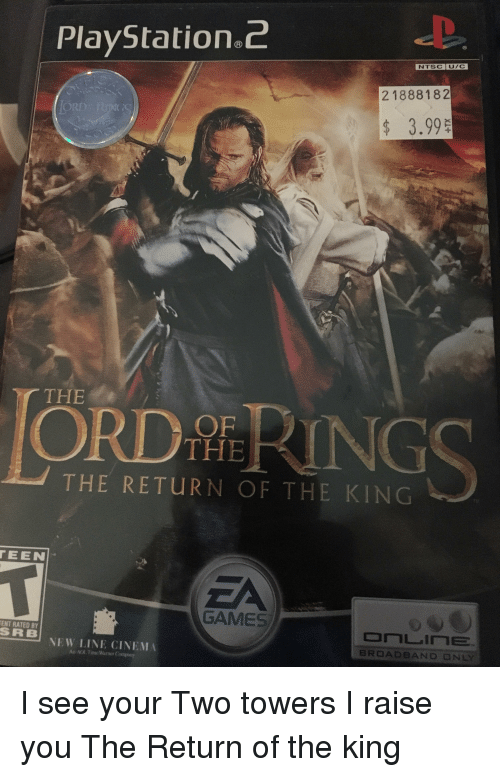 Lord of the Rings: Return of the King - PlayStation 2