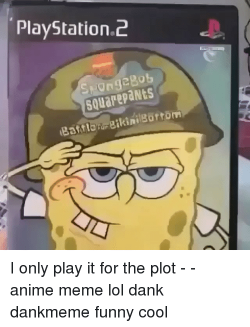 Playstation 2 Square Pants I Only Play It For The Plot Anime