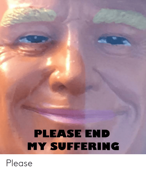 Please End My Suffering Please Dank Meme On Me Me
