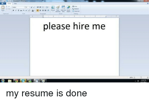 resume girl memes and please please hire me my resume is done