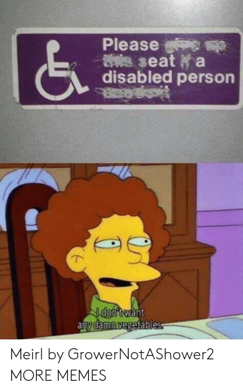 Dank, Memes, and Target: Please  (S  seat a  disabled person  want  amnegetable Meirl by GrowerNotAShower2 MORE MEMES