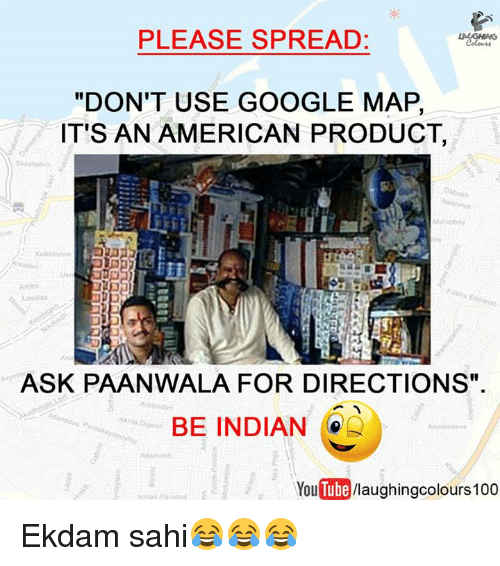 PLEASE SPREAD DON'T USE GOOGLE MAP IT'S AN AMERICAN PRODUCT ... on google navigation app, full screen map please, google team please,