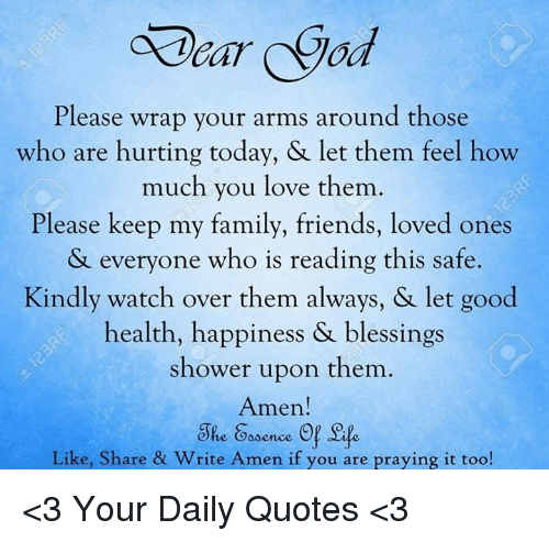 Please Wrap Your Arms Around Those Who Are Hurting Today ...