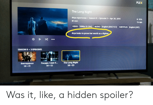 Game Of Thrones Subtitles Plex Adding subtitles to Game of Thrones
