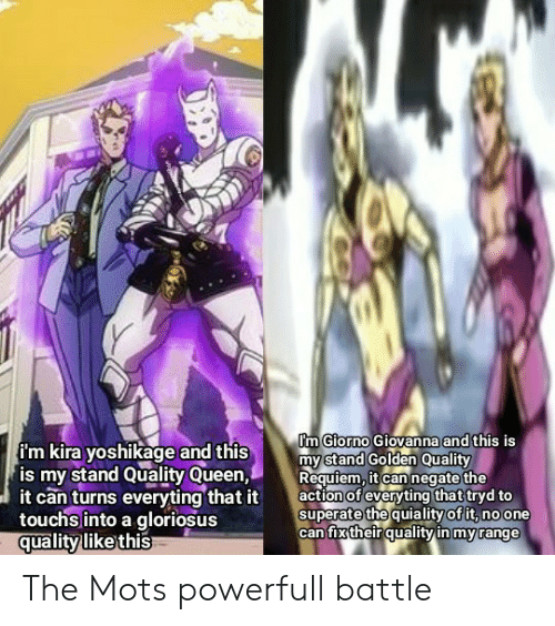 Pm Giorno Giovanna and This Is My Stand Golden Quality