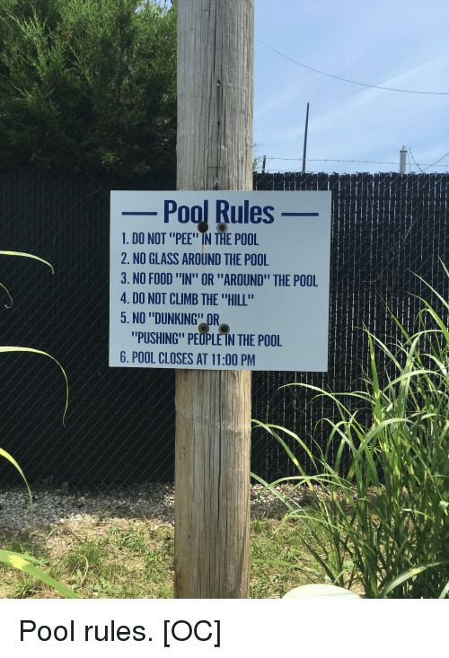 Po Rules 1 Do Not Pee In The Pool 2 No Glass Around The Pool 3 No