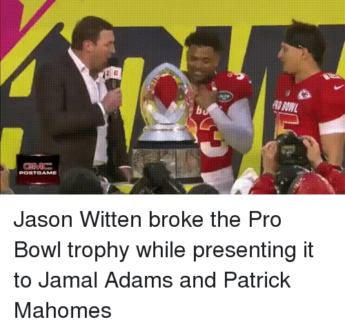 77133ba0a POBTGAME Jason Witten Broke the Pro Bowl Trophy While Presenting It ...